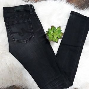 AG | Aubrey skinny straight black jeans